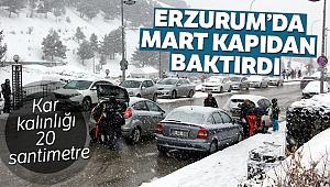 Erzurum'da Mart kapıdan baktırdı!