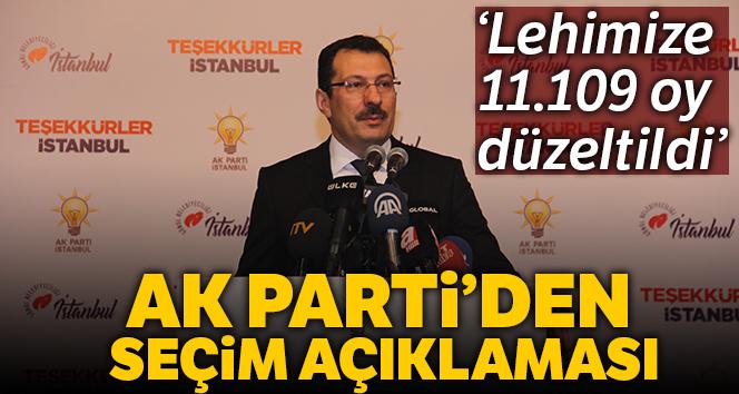 AK Parti'den seçim açıklaması !