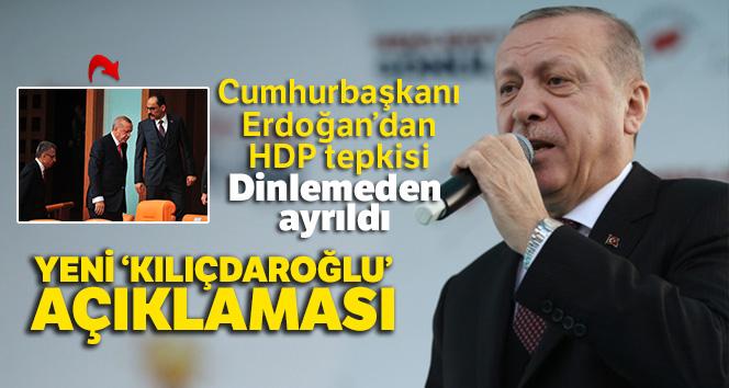 Cumhurbaşkanı Erdoğan'dan HDP tepkisi!