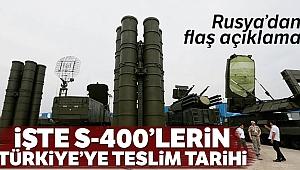 Rusya'dan S-400 füze savunma sistemi açıklaması