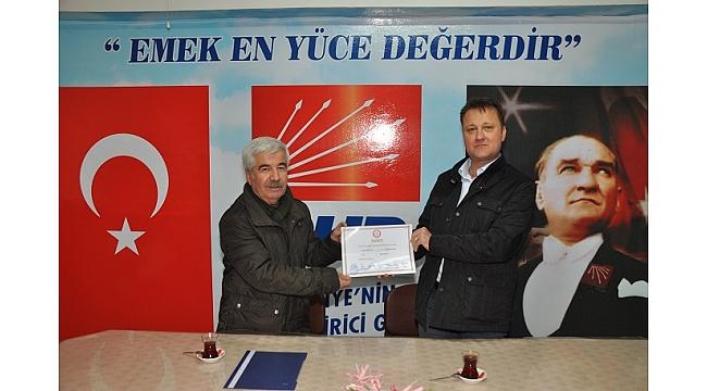 Serdar Aksoy mazbatasını aldı