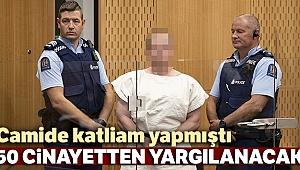 Camilere saldıran Tarrant, 50 cinayetten yargılanacak