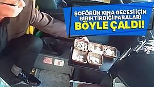 Yolcu dolu minibüste hırsızlık kamerada