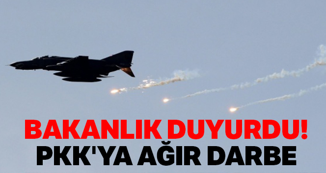 Bakanlık duyurdu! PKK'ya ağır darbe