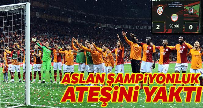 Galatasaray şampiyonluk ateşini yaktı