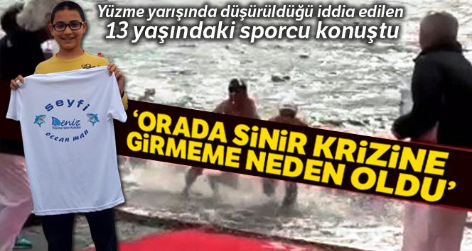 Yüzme yarışında düşürüldüğü iddia edilen 13 yaşındaki sporcu konuştu