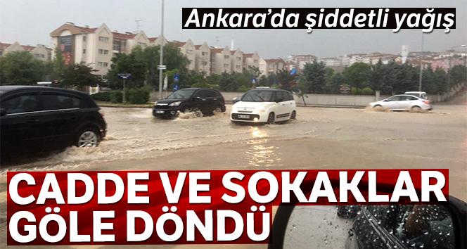 Ankara'da yağıştan kaynaklı su birikintisi diz boyunu geçti
