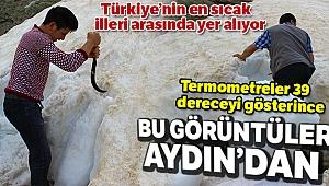 Bu görüntüler Erzurum'dan değil Aydın'dan