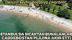 Caddebostan Plajı bayramın ilk günü İstanbulluların akınına uğradı