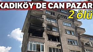 Kadıköy'de yangın çıkan binada can pazarı
