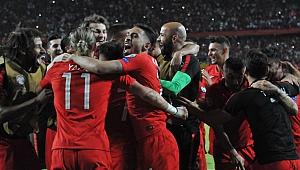 Maç sonunda büyük sevinç
