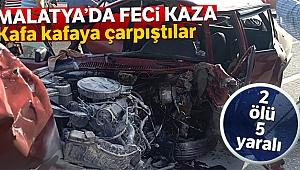 Malatya'da otomobiller çarpıştı: 2 ölü, 5 yaralı