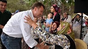 """Menemen'in ilk """"Organik Köy Pazarı"""" açıldı"""