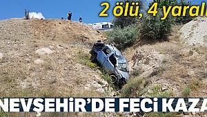 Nevşehir'de ticari araç şarampole yuvarlandı: 1'i bebek 2 ölü, 4 yaralı