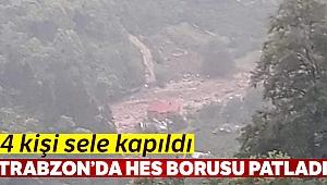 Trabzon'un Araklı ilçesinde HES borusu patladı: 4 kayıp