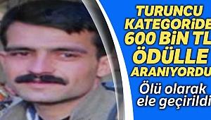 Turuncu kategoride yer alan terörist öldürüldü
