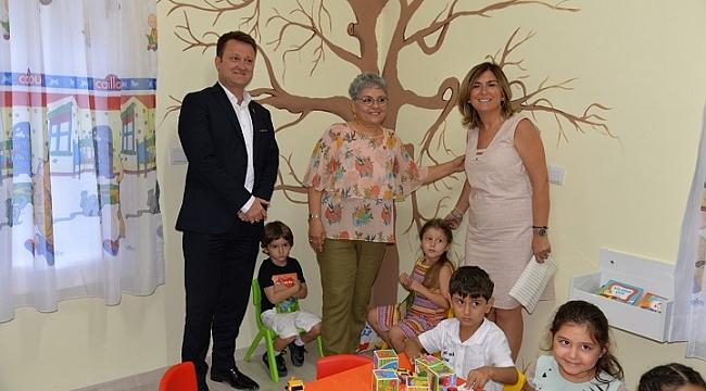 """Menemen """"Kadın Danışma Merkezi ve Çocuk Oyun Evi""""  açıldı"""