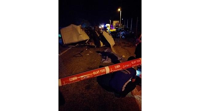 Ödemiş'te trafik kazası: 2 ölü, 1 yaralı