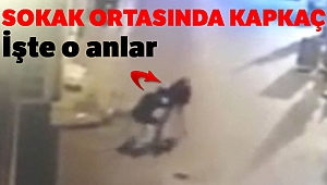 Beyoğlu'nda kapkaç anı kamerada