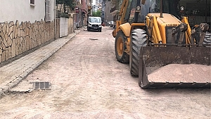 Bornova Belediyesi yolları yeniliyor