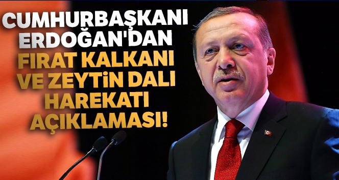 Cumhurbaşkanı Erdoğan'dan Fırat Kalkanı ve Zeytin Dalı harekatı açıklaması!