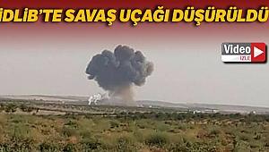 İdlib'te rejime ait bir Rus uçağı düşürüldü