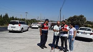 Jandarma sürücüleri drone ile havadan denetledi