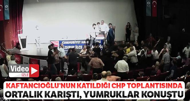 Kaftancıoğlu'nun katıldığı CHP toplantısında ortalık karıştı, yumruklar konuştu