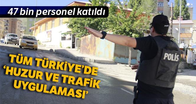 Kurban Bayramı öncesi ülke genelinde 'Türkiye huzur ve trafik uygulaması'