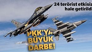 MSB: '24 PKK'lı bölücü terörist etkisiz hale getirildi'