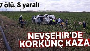 Nevşehir'de minibüs ile tır çarpıştı: 7 ölü, 8 yaralı