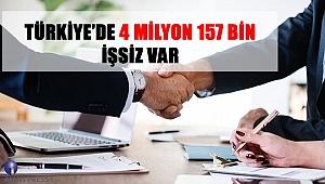 Türkiye'de 4 Milyon 157 Bin İşsiz Var