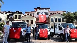 Çeşme Belediyesi araç filosuna 3 yeni araç ekledi