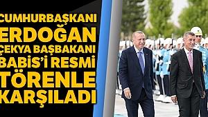 Cumhurbaşkanı Erdoğan, Çekya Başbakanı Babis'i resmi törenle karşıladı