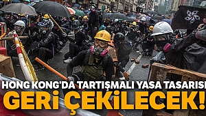 Hong Kong'da protestolara neden olan tasarı geri çekilecek