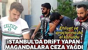 İstanbul'da 'drift' yapan magandalara 15 bin lira ceza kesildi