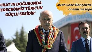 MHP Lideri Bahçeli, Söğüt'te önemli mesajlar verdi