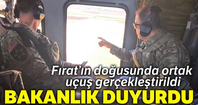 MSB: '2 Türk ve 2 ABD helikopteri, üçüncü ortak uçuşunu gerçekleştirdi'