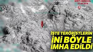 Siirt Herekol'da 7 terörist ve teröristlerin cephaneliği böyle imha edildi