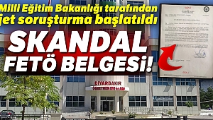 Skandal FETÖ belgesine Bakanlıktan soruşturma