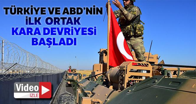 Türk ve ABD askerlerinin müşterek kara devriyesi başladı