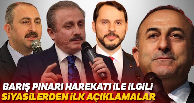 Barış Pınarı Harekatı ile ilgili siyasilerden ilk açıklamalar
