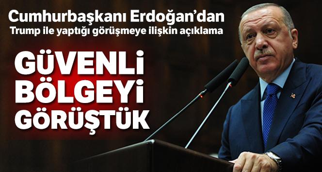 Cumhurbaşkanı Erdoğan'dan, ABD Başkanı Trump ile yaptığı görüşmeye ilişkin açıklama