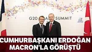 Cumhurbaşkanı Erdoğan, Fransız mevkidaşı Macron'la telefonda görüştü