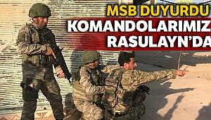 Milli Savunma Bakanlığı: 'Kahraman komandolarımız Rasulayn'da'