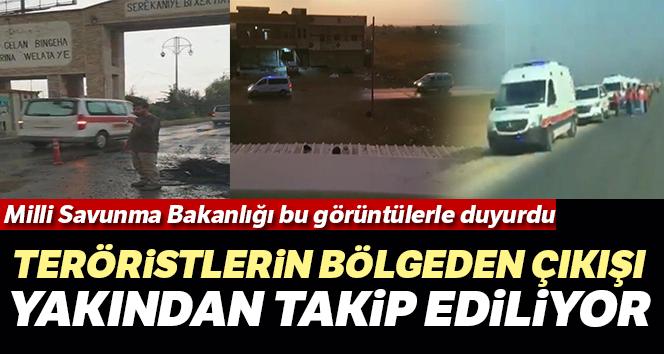 MSB: 'PKK/YPG'li teröristlerin bölgeden çıkışı yakından takip ediliyor'