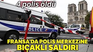 Paris'te polis merkezine düzenlenen saldırıda 4 polis öldü