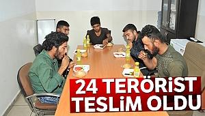 PKK/YPG'li 24 terörist güvenlik güçlerine teslim oldu!