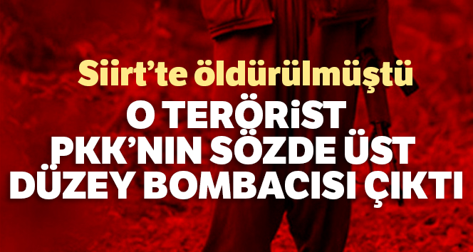 Siirt'te öldürülen teröristin, PKK'nın sözde üst düzey bombacısı olduğu belirlendi
