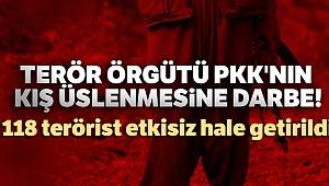 Terör örgütü PKK'nın kış üslenmesine darbe! Son operasyonlarda 118 terörist etkisiz hale getirildi